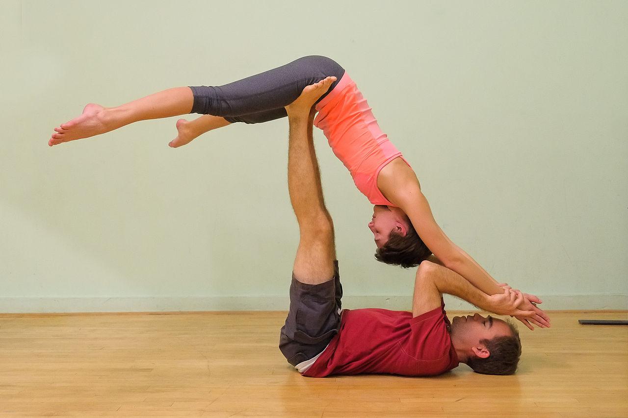 2 Person Yoga Challenge Poses Hard